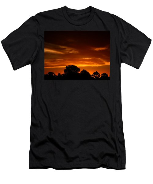 Red Sunset Men's T-Shirt (Slim Fit) by Mark Blauhoefer