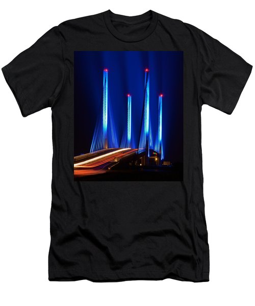 Indian River Inlet Bridge As Seen North Of Bethany Beach In This Award Winning Perspective Photo Men's T-Shirt (Athletic Fit)