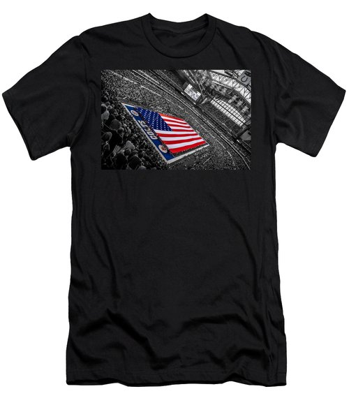 Red White And Blue Men's T-Shirt (Athletic Fit)