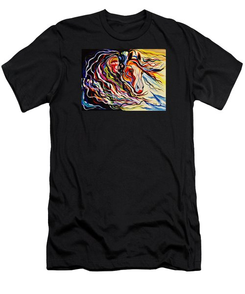 Red Wind Wild Horse Men's T-Shirt (Athletic Fit)