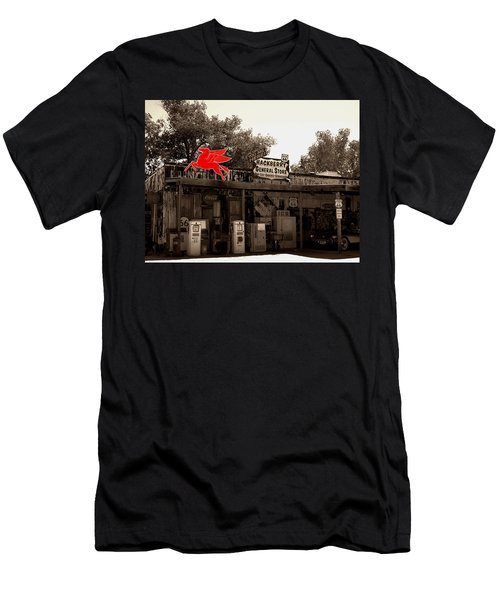 Red Winged Horse Men's T-Shirt (Slim Fit) by Leticia Latocki