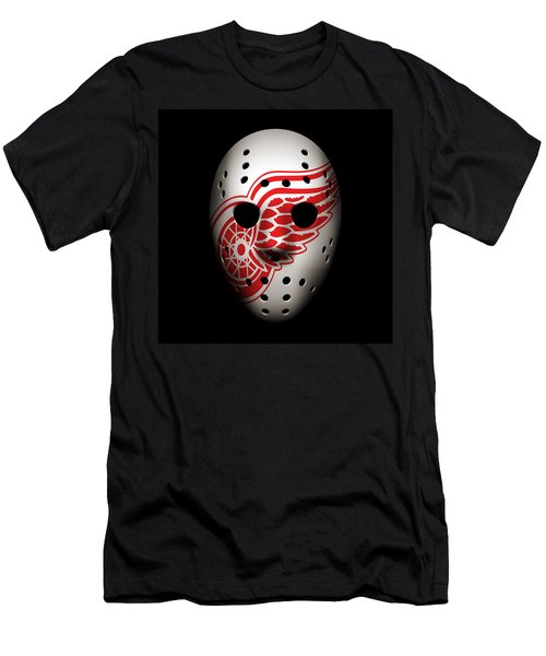 Red Wings Goalie Mask Men's T-Shirt (Athletic Fit)
