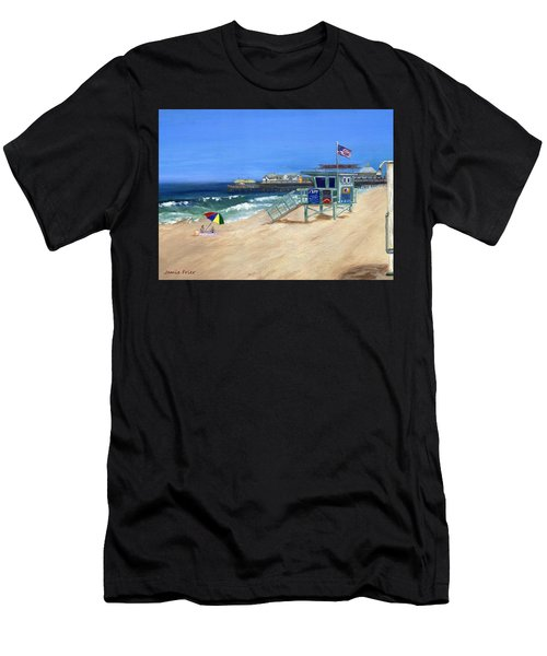 Redondo Beach Lifeguard  Men's T-Shirt (Athletic Fit)