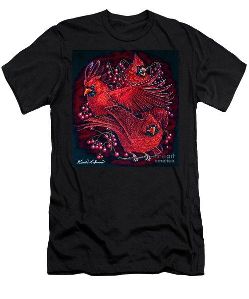 Reds Men's T-Shirt (Slim Fit) by Linda Simon