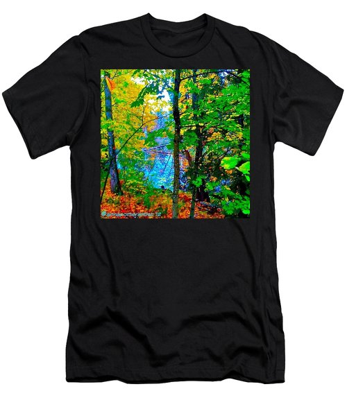 Reed College Canyon Reflections Of Autumn Men's T-Shirt (Athletic Fit)