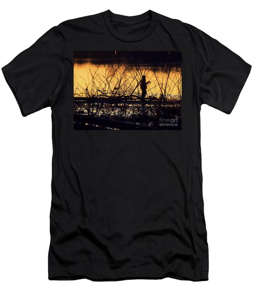 Reeling In A New Day Men's T-Shirt (Athletic Fit)