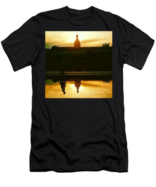 Reflected In Lyon, France Men's T-Shirt (Athletic Fit)