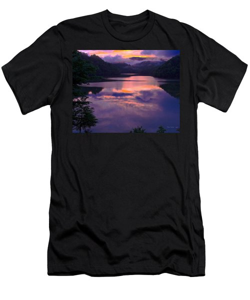 Reflected Sunset Men's T-Shirt (Slim Fit) by Tom Culver