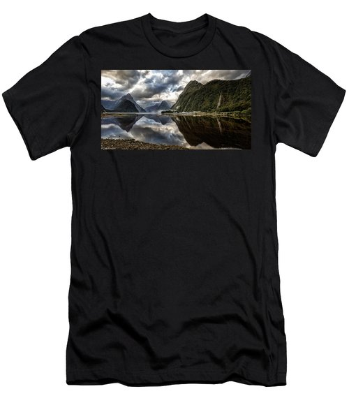 Men's T-Shirt (Athletic Fit) featuring the photograph Reflecting On Milford by Chris Cousins