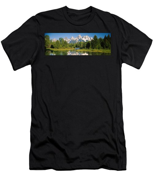 Reflection Of A Snowcapped Mountain Men's T-Shirt (Athletic Fit)