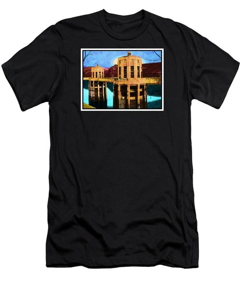 Men's T-Shirt (Slim Fit) featuring the photograph Reflections At Hoover Dam by Glenn McCarthy Art and Photography