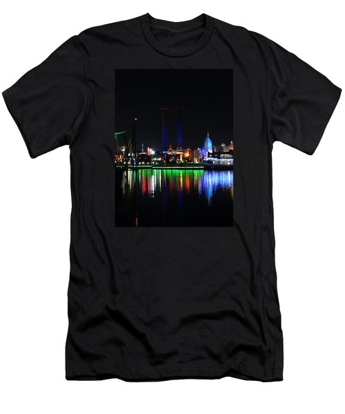 Reflections At Night Men's T-Shirt (Athletic Fit)