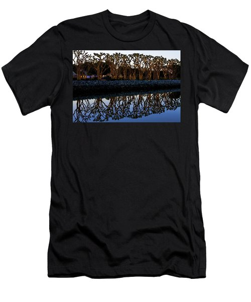 Men's T-Shirt (Slim Fit) featuring the photograph Reflections In First Light by Gary Holmes
