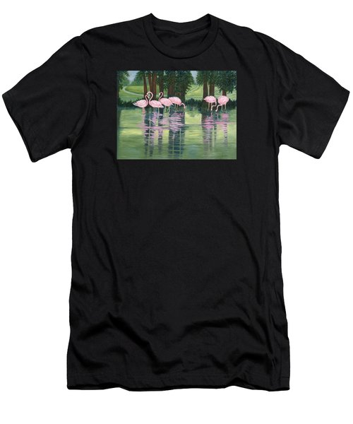 Reflections In Pink Men's T-Shirt (Athletic Fit)
