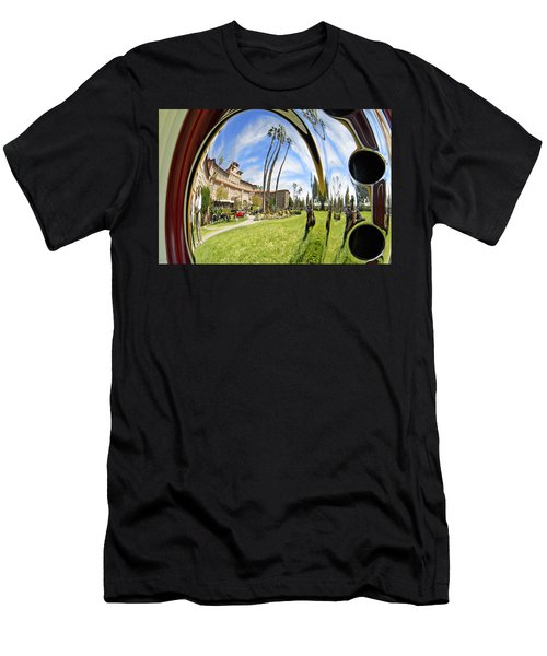 Men's T-Shirt (Slim Fit) featuring the pyrography Reflections Of A 1937 Cord by Shoal Hollingsworth