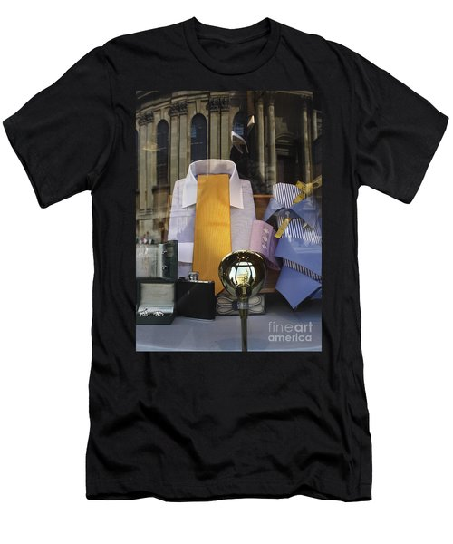 Men's T-Shirt (Slim Fit) featuring the photograph Reflections Of A Gentleman's Tailor by Terri Waters