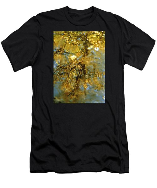 Reflections Of Trees In Gold Men's T-Shirt (Athletic Fit)