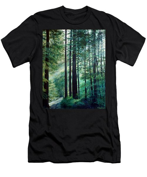 Men's T-Shirt (Slim Fit) featuring the painting Refuge by Kathleen McDermott