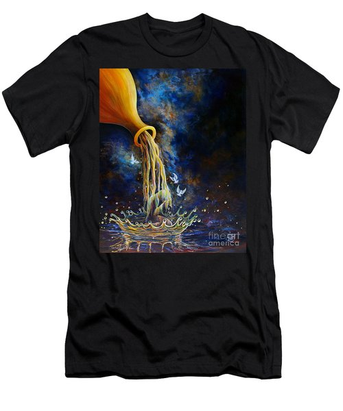 Men's T-Shirt (Athletic Fit) featuring the painting Regeneration by Nancy Cupp