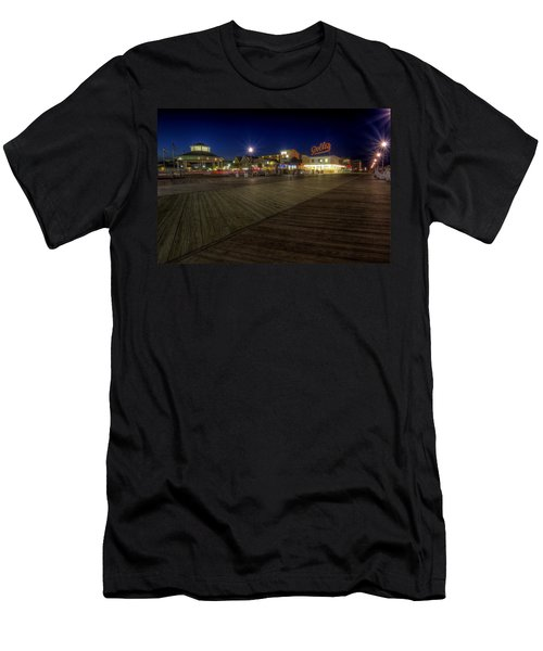 Rehoboth Beach Boardwalk At Night Men's T-Shirt (Athletic Fit)