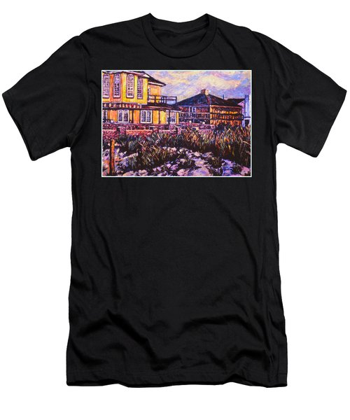 Rehoboth Beach Houses Men's T-Shirt (Athletic Fit)