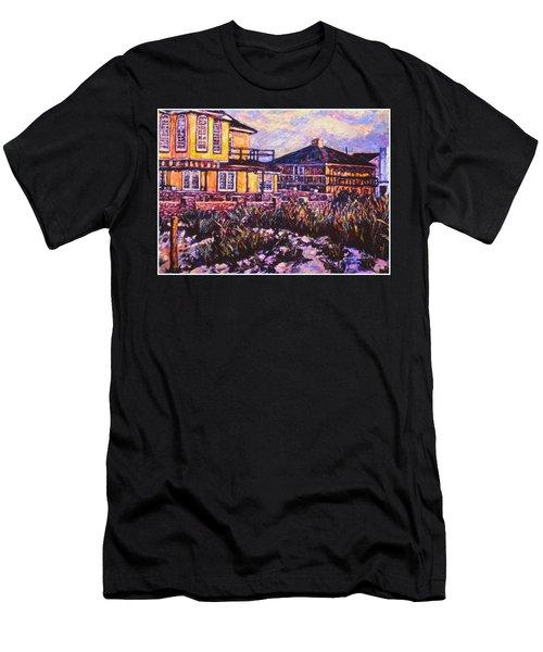 Rehoboth Beach Houses Men's T-Shirt (Slim Fit) by Kendall Kessler