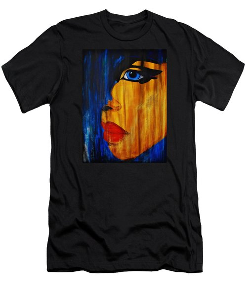 Men's T-Shirt (Slim Fit) featuring the painting Reign Over Me 3 by Michael Cross