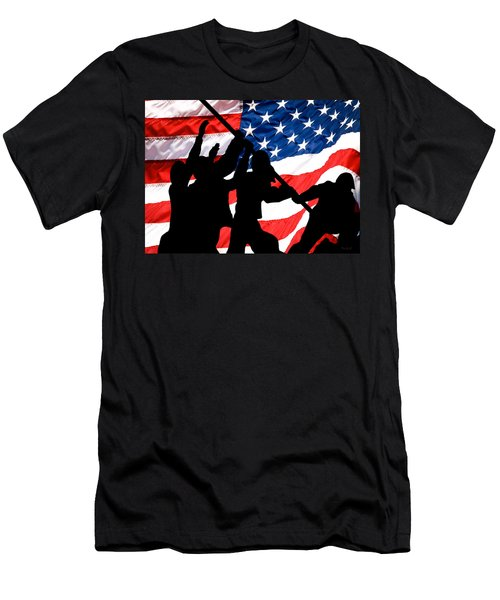 Remembering World War II Men's T-Shirt (Slim Fit) by Bob Orsillo