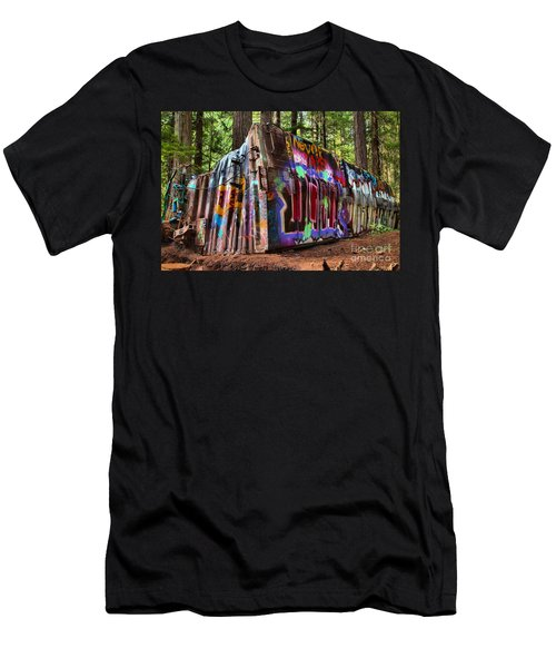 Remnants Of The Whister Train Wreck Men's T-Shirt (Athletic Fit)