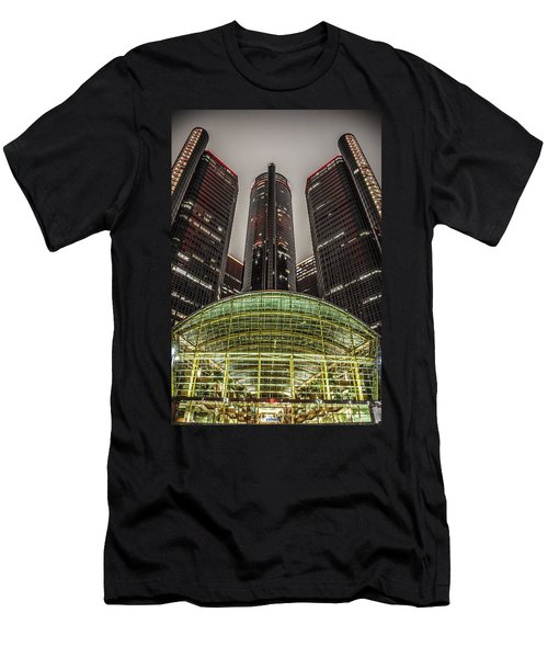 Renaissance Center Detroit Michigan Men's T-Shirt (Athletic Fit)