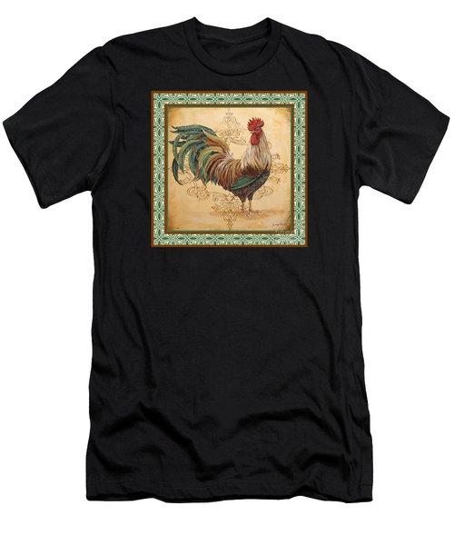 Renaissance Rooster-d-green Men's T-Shirt (Athletic Fit)
