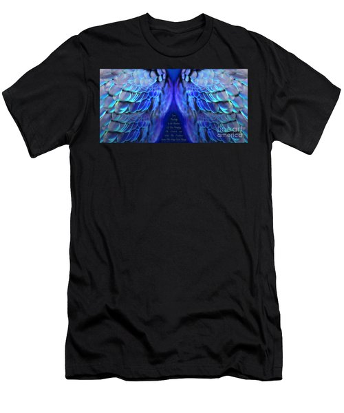 Psalm 91 Wings Men's T-Shirt (Athletic Fit)