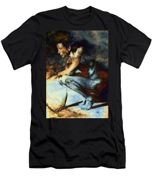 Resting Drawing With Texture Men's T-Shirt (Athletic Fit)