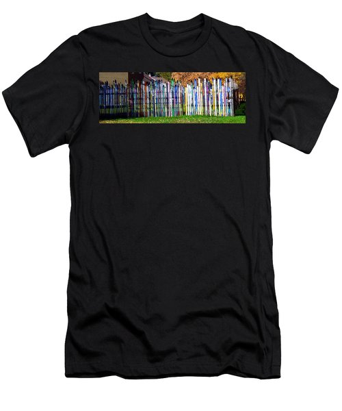 Men's T-Shirt (Slim Fit) featuring the photograph Retired Skis  by Jackie Carpenter