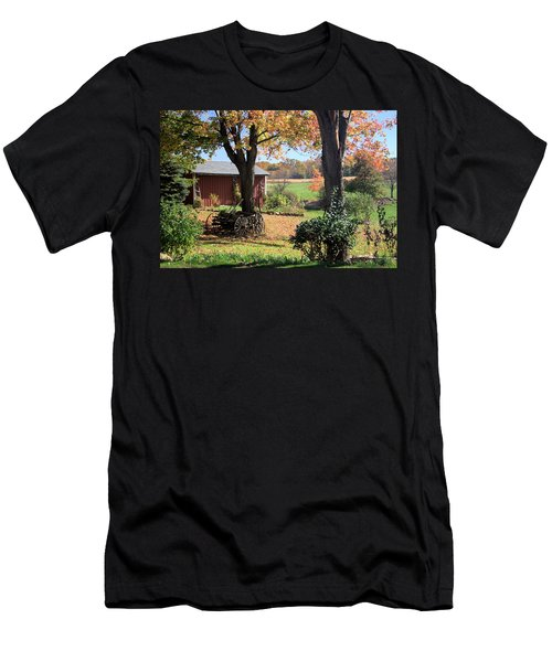 Retired Wagon Men's T-Shirt (Slim Fit) by Gordon Elwell