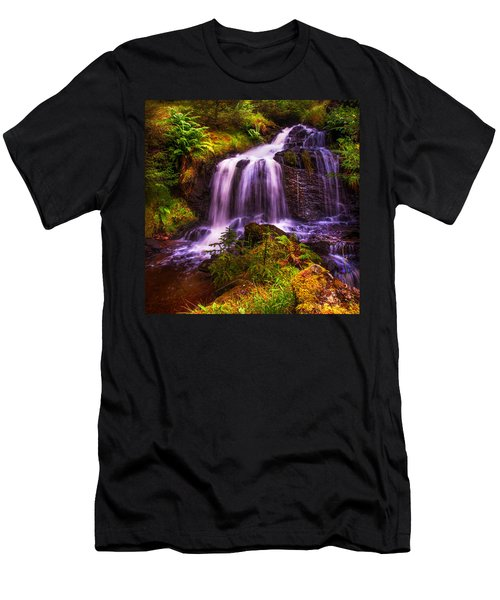 Retreat For Soul. Rest And Be Thankful. Scotland Men's T-Shirt (Slim Fit) by Jenny Rainbow