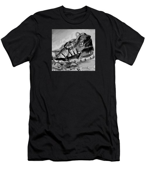 Men's T-Shirt (Slim Fit) featuring the painting Retro Adidas by Jeffrey S Perrine