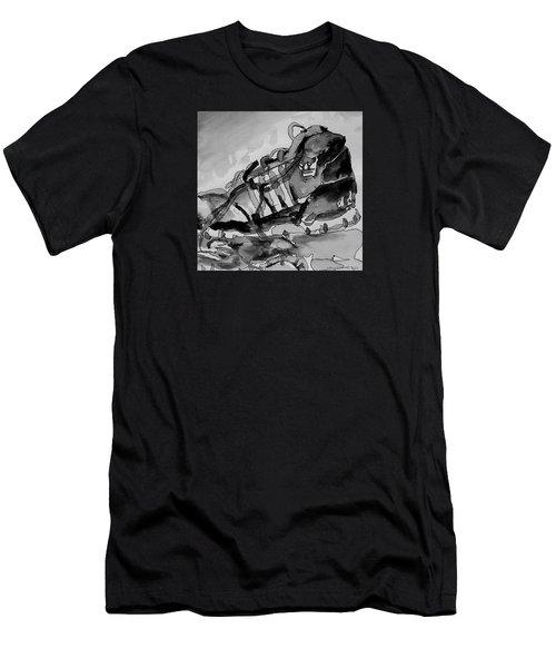 Retro Adidas Men's T-Shirt (Slim Fit) by Jeffrey S Perrine