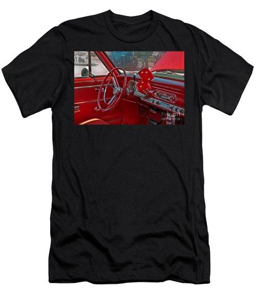 Retro Chevy Car Interior Art Prints Men's T-Shirt (Athletic Fit)