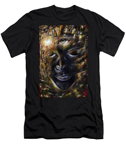 Men's T-Shirt (Slim Fit) featuring the painting Revelation by Hiroko Sakai