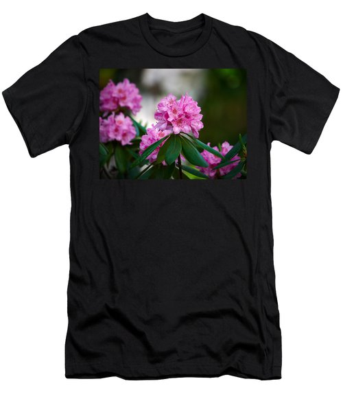 Rhododendron Men's T-Shirt (Slim Fit) by Jouko Lehto