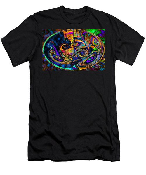 Men's T-Shirt (Slim Fit) featuring the digital art Rhythm Of The Soul by Annie Zeno