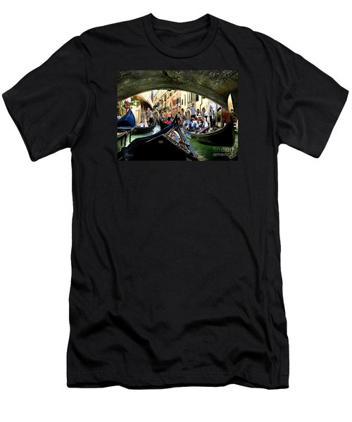 Men's T-Shirt (Slim Fit) featuring the photograph Rhythm Of Venice by Jennie Breeze