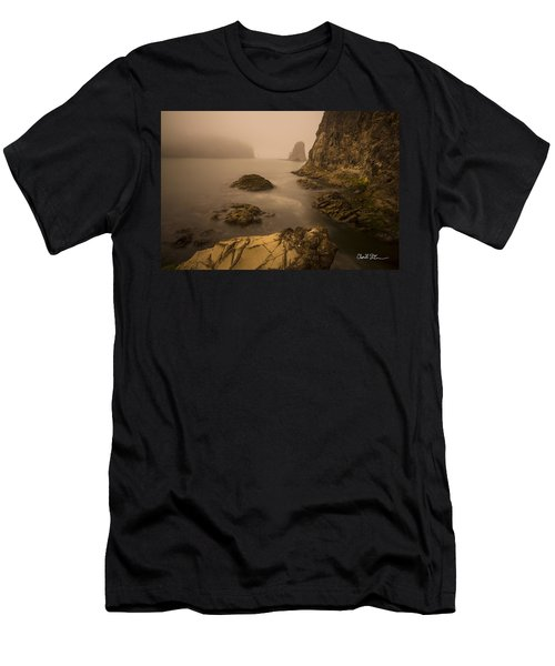 Rialto Beach Rocks Men's T-Shirt (Athletic Fit)