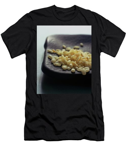 Rice On A Black Plate Men's T-Shirt (Athletic Fit)