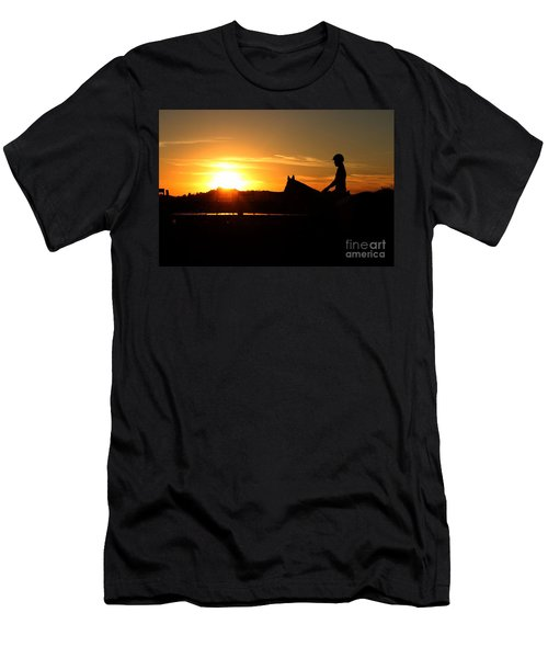 Riding At Sunset Men's T-Shirt (Athletic Fit)