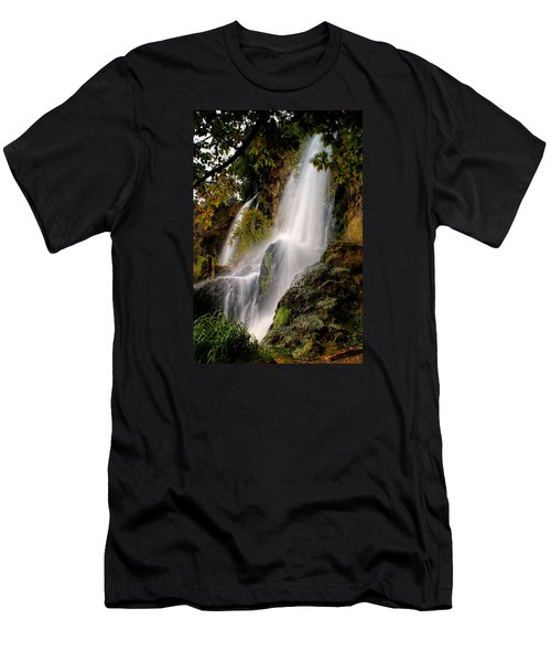 Men's T-Shirt (Slim Fit) featuring the photograph Rifle Falls by Priscilla Burgers