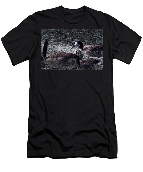 Men's T-Shirt (Slim Fit) featuring the photograph Right Behind Ya   by Lesa Fine