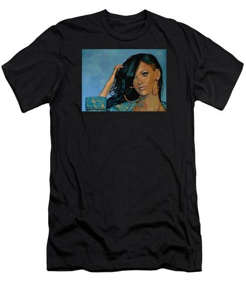 Rihanna Painting Men's T-Shirt (Athletic Fit)