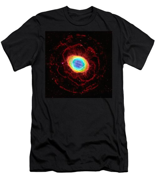 Ring Nebula's True Shape Men's T-Shirt (Athletic Fit)